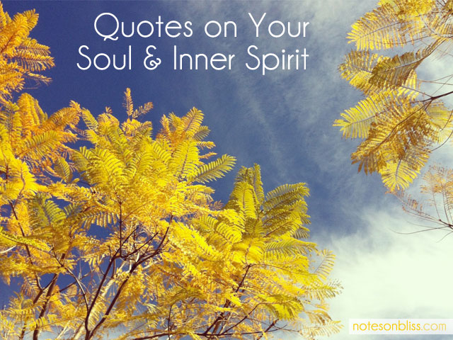 Quotes On Soul And Inner Spirit Elyse Santilli