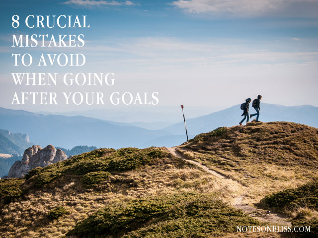going after your goals
