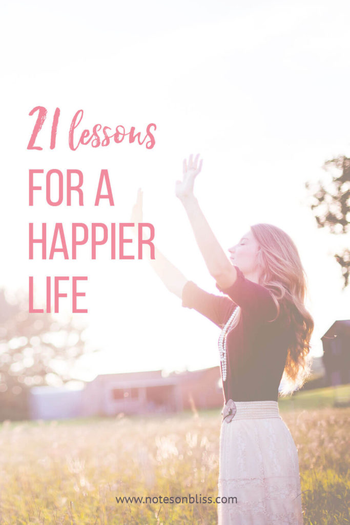 lessons for a happier life