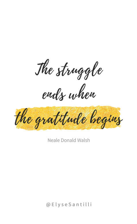 gratitude quote the gratitude begins